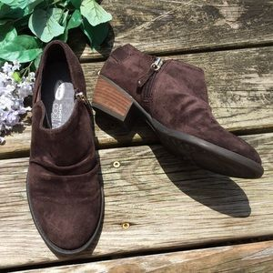 Dr. Scholl's Cool Fit Brown Heel Booties 6.5